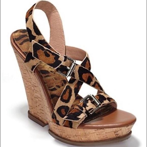 6ee2189ea070 Sam Edelman Josie Cheetah Calf Hair Wedge Heels. M 5acb9c2a9a94550c725affec